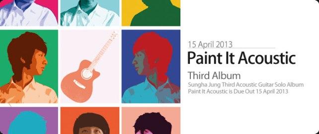 Sungha's Third Album: Paint it Acoustic